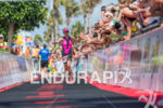 Diana Riesler at the finish of the 2015 Ironman Lanzarote…