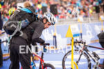 Tony Dodds prepares for the 2015 London Itu World Triathlon…