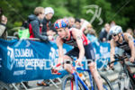 Jonathan Brownlee on the bike stage at the 2015 London…