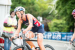 Emma Pallant competes on the bike stage at the 2015…