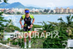Kyle Buckingham during the run portion of the 2015 Ironman…