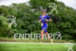 Asa Lundstrom during the run portion of the 2015 Ironman…