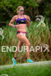 Amanda Stevens during the run portion of the 2015 Ironman…