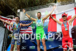 Men's podium at the 2015 Ironman Brasil Florianopolis Latin American…