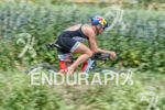Camilla Pedersen on the bike at the Ironman 70.3  Kraichgau…