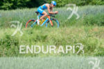 Laura Philipp on the bike at the Ironman 70.3  Kraichgau…