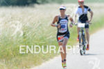 Camilla Pedersen during the run portion of the Ironman 70.3…
