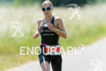 Anja Beranek during the run portion of the Ironman 70.3…