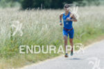 Julia Gajer during the run portion of the Ironman 70.3…