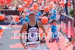 Camilla Pedersen at the finish of the Ironman 70.3  Kraichgau…