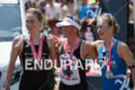Svenja Bazlen, Camilla Pedersen, Julia Gajer (l-r) at the finish…