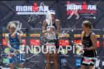 Julia Gajer, Camilla Pedersen, Svenja Bazlen (l-r) at the finish…