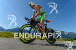 Marino Vanhoenacker competes in the bike leg during the 2015…