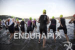 The start of the pro womens division at Ironman Coeur…