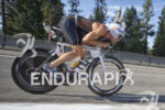 Barrett Brandon works the descents at Ironman Coeur d'Alene on…