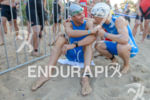 Andreas Raelert and Julia Gajer before the swim start of…