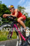 Daniela Ryf competes during the bike leg of the Ironman…