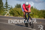 Sam Appleton rides strong on the bike at the 2015…