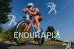 Svenja Bazlen competes during the bike leg of Challenge Roth…