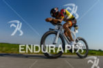 Nils Frommhold competes during the bike leg of Challenge Roth…