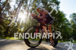 Timo Bracht competes during the bike leg of Challenge Roth…