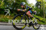 Beth Gerdes competes during the bike leg of the 2015…