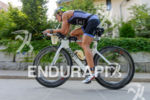 Mareen Hufe competes during the bike leg of the 2015…