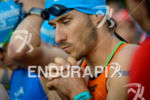 Christian Kramer concentrates before the swim start of the Ironman…