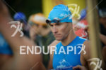 Andreas Raelert concentrates before the swim start of the Ironman…
