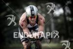 Justin Daerr during the bike portion of the at the…