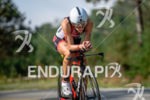 Lisa Ronberts during the bike portion of the at the…