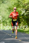Sarah Piampiano during the run portion of the at the…