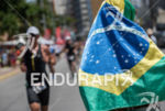 Brazil's flag during the run portion of the 2015 Challenge…