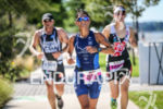 Athletes competing during the run leg of  the inaugural 2015…