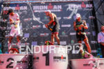 Male podium of the inaugural 2015 Ironman France Vichy in…