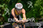 Ricarda Lisk competes during the bike leg of the 2015…