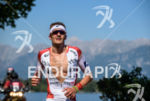 Jan Frodeno competes during the run leg of the 2015…