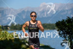 Emma Bilham competes during the run leg of the 2015…