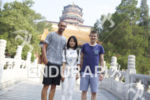 Matty Reed and Graham O'Grady pose with their Chinese translator,…