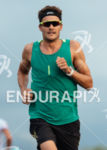 Jan Frodeno on a training run on Queen Kaahumanu Highway…