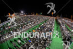 Transition area prior to race start  of the  2015 Ironman…