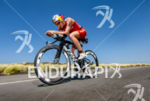 Daniela Ryf (CHE) competes during the bike leg at the…