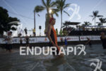 Angela Naeth prepares to start the swim leg at the…