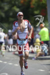 Jan Frodeno during the run at the 2015 Ironman World…