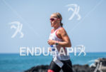 Camisa Pedersen during the run portion of the  2015 Ironman…