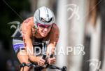 Sarah Haskins during the bike portion of the  2015 Ironman…
