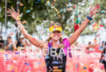 Sarah Haskins wins the  2015 Ironman 70.3 Miami in Miami,…