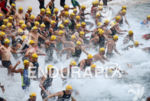 Race start at the 2015 Ironman Fortaleza in Fortaleza, Brazil…