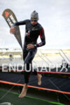 Marko Albert is first out of the water at Ironman…