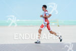 Jan Frodeno competes during the run leg at the 2016…